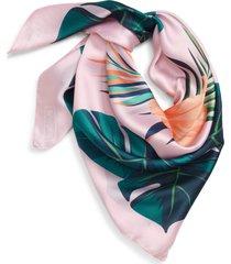 women's briogeo paradise pink satin scarf