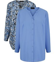 set blouses m. collection blauw::zwart::wit