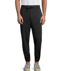 cult of individuality men's drawstring cotton fleece pants - black - size xl