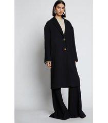proenza schouler blended wool oversized coat black 6