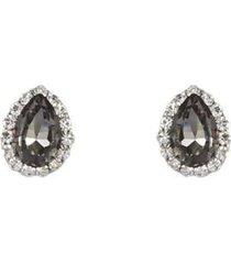 brinco armazem rr bijoux mini gota com cristais prata - feminino