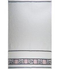 pano de copa p/ bordar gourmet - appel - vaquinha - branco - dafiti