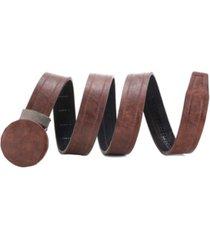 mio marino men's casual wrinkled leather ratchet belt