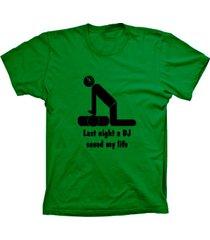 camiseta baby look lu geek dj saved life verde - verde - feminino - dafiti