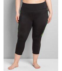 lane bryant women's active swim legging 20 botanical palm
