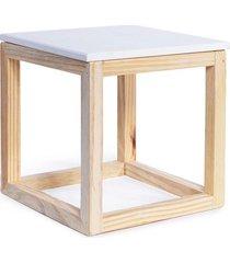 cubo vazado cromus para decoração de mesa branco 20cm