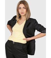 blazer negro montjuic luca lino