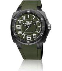 relógio everlast esporte e680 48mm silicone masculino