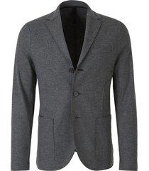 virgin wool knit blazer