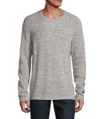 michael kors men's cotton & wool waffle-knit sweater - charcoal - size xxl
