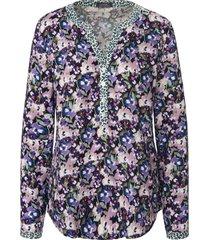 blouse lange mouwen en bloemenprint van mybc paars