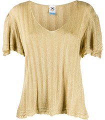m missoni knitted lurex top - gold