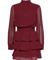 alexa turtleneck dress kort klänning röd gina tricot