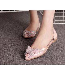 pp447cutie sequined butterfly pumps, size 4-8.5, pink