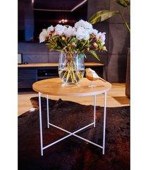sienna - okrągły drewniany stolik