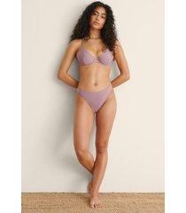 na-kd swimwear återvunnen högt skuren bikinitrosa - purple