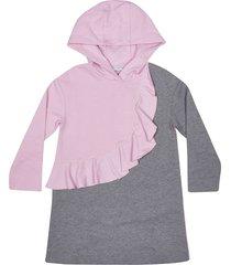 vivetta rouches hoodie dress