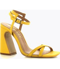 sandalia tacón medio amarilo perugia 10441si-am