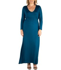 women's plus size classic maxi dress