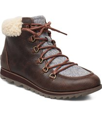 harlow lace cozy shoes boots ankle boots ankle boots flat heel brun sorel