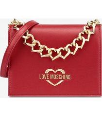 love moschino borsa a spalla chain hearts