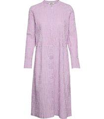 crinckle pop dupina jurk knielengte roze mads nørgaard