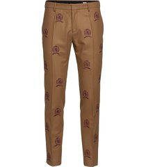 hcm suit sep pants embroidery kostymbyxor formella byxor beige hilfiger collection