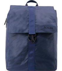 mochila keira azul oscuro lilás carteras