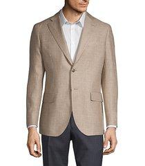 linen & wool sharkskin sport jacket