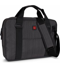 maletin para laptop swissbrand gleather-gris