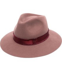 maison michel rico panama hat - red