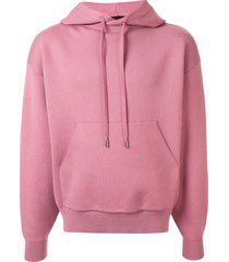 caban knitted relaxed-fit hoodie - pink