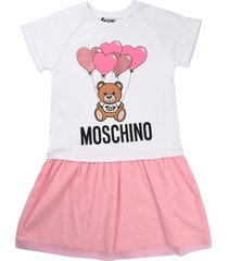 moschino white dress with pink tulle skirt