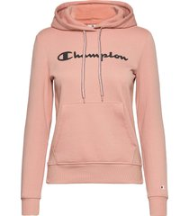 hooded sweatshirt hoodie rosa champion