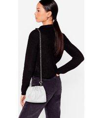 womens want hey let's hang mini crossbody bag - grey