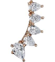 18kt rose gold floating diamond earring