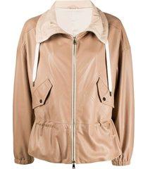 brunello cucinelli cinched waist jacket - neutrals