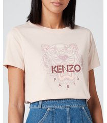 kenzo women's icon tiger t-shirt classic - faded pink - l