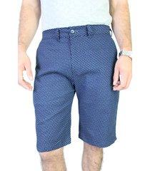 shorts estampados dril elástico aranzazu cancún - azul