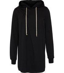 'hiked' gathered hoodie