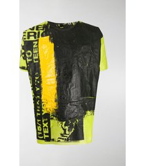 raf simons graffiti effect t-shirt