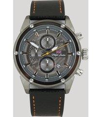 relógio cronógrafo philiph london masculino - pl80079612m grafite
