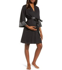 women's belabumbum maternity/nursing robe, size large/x-large - black