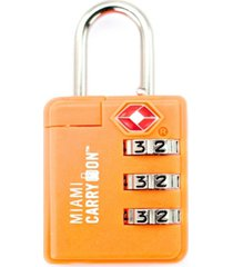 miami carry-on tsa approved combination luggage padlock