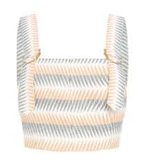 top jacquard spears solange - off white