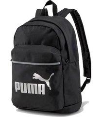 mochila negra puma core base college