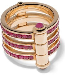 stephen webster 18kt yellow gold i promise to love you neon ruby ring