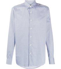 ermenegildo zegna geometric print shirt - blue