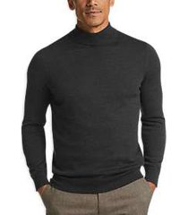 joseph abboud charcoal mock neck performance sweater