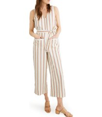women's madewell stripe pull-on jumpsuit